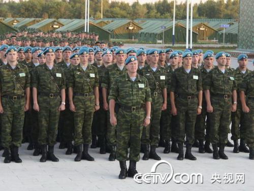 &quot和平使命2009&quot中俄联合恐事演习中俄联合战役指挥部进行首次